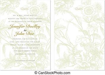 floral, quadro, vetorial, fundo, ornate