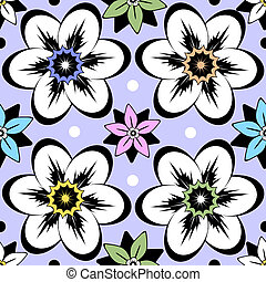 floral, vindima, seamless, (vector), padrão