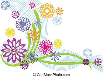 flores, abstratos