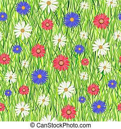 flores, capim, abstratos