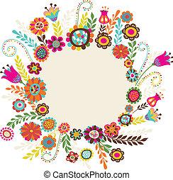 flores, cartão cumprimento