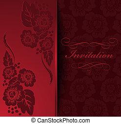 flores, convite
