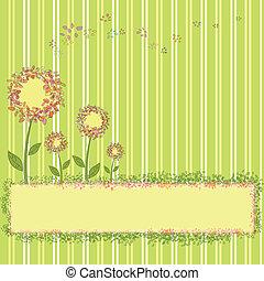 flores mola, listra verde, amarela
