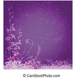 flores roxas, fundo