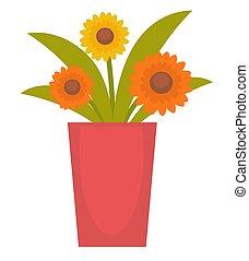 flores, vaso