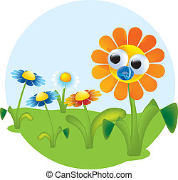 flores, vetorial