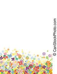 flores, vetorial, lado inferior