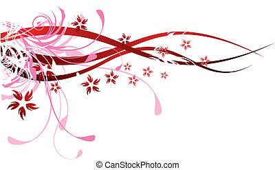 flourishes, vermelho