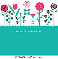 flowers., vetorial, ilustração