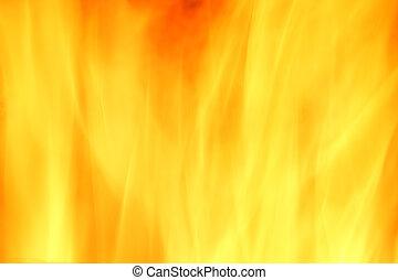 fogo, abstratos, fundo amarelo