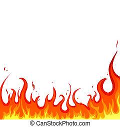 fogo, -, chamas