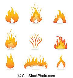 fogo, chamas, sinais