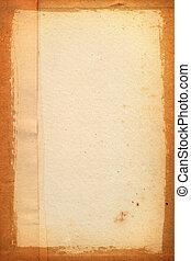 folha, papel, yellowed