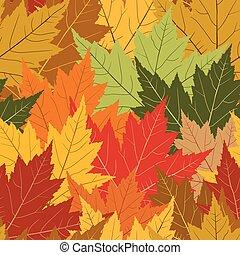 folha, seamless, fundo, outono, repetindo, maple