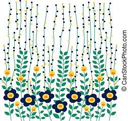 folha, vetorial, desenho, flor, natureza