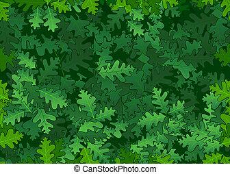 folhas, carvalho, seamless, textura