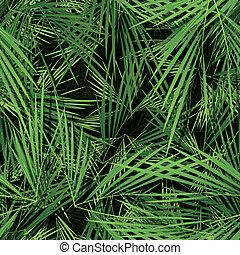 folhas, papel parede, palma, seamless, árvores