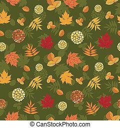 folhas, seamless, outono