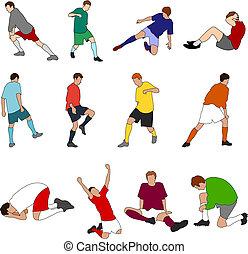 footballers, desporto, -, 01, pessoas