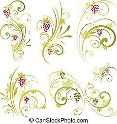 forma, scroll, vinho