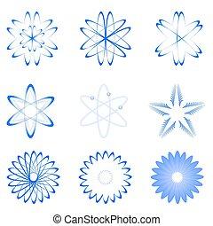 formas, diferente, átomo