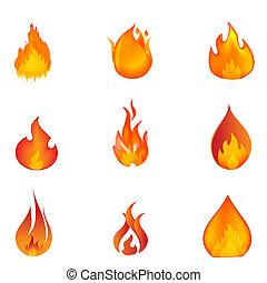 formas, fogo