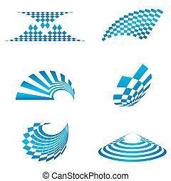 formas, logotipo, diferente