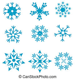 formas, snowflakes