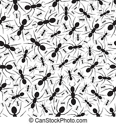 formiga, padrão, repetindo, seamless