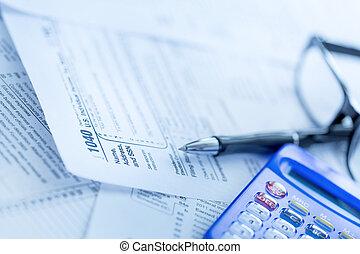 formulários, 1040, imposto