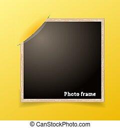 foto, frame., desenho, decoretive, template., grunge, borda