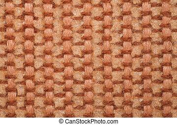 fragmento, macro, tapete, sesta, pilha, grosseiro, brown-yellow., tiroteio, textura
