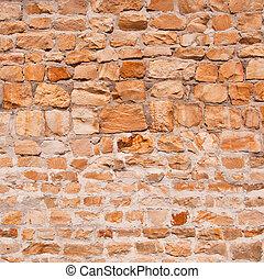 fragmento, parede, antigas