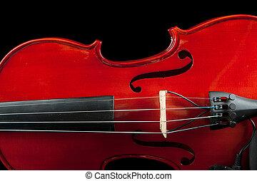 fragmento, violino, experiência preta