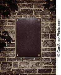 frame parede, sinal metal