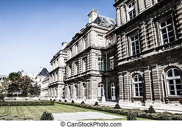 frança, jardim, paris, palácio, luxemburgo, bonito