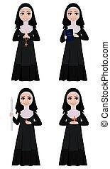 freira, character., caricatura