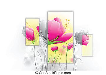 fresco, flor
