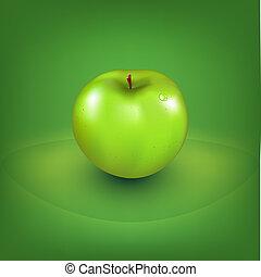 fresco, maçã verde