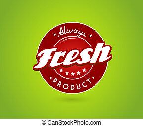 fresco, produto, verde, sinal., tábua