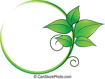 fresco, quadro, verde sai
