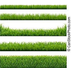 fronteiras, capim, verde, jogo, fundo