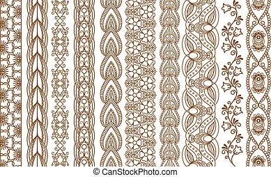 fronteiras, indianas, henna, seamless