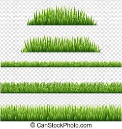 fronteiras, isolado, fundo, transparente, verde, jogo, capim