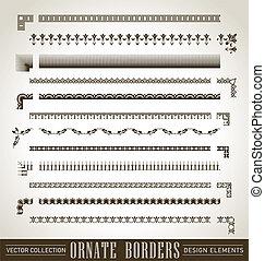 fronteiras, jogo, (vector), ornate