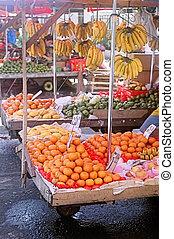 fruta fresca, mercado, ar