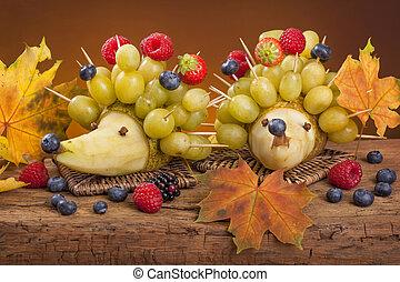 fruta, hedgehogs