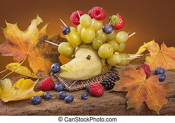 fruta, ouriço
