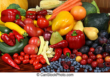 frutas, vegetables.