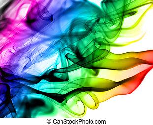 fumaça, abstratos, branca, coloridos, padrões